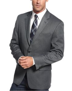 Michael Kors Modern Fit Charcoal Gray Herringbone Blazer Sportcoat -- Awesome products selected by Anna Churchill