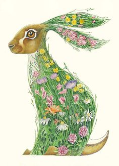 Hare in a Meadow - Card - The DM Collection