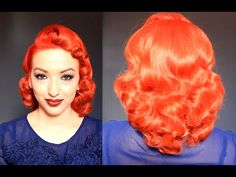 ▶ Retro Vintage Pin Curls Using A Curling Iron - YouTube