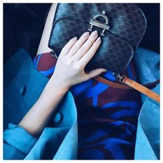 """""""All the pretty blues  #vintage #suedetrenchcoat #celine #fromwhereisit #livecolorfully #bittersweetcolours #todayscolor #blue"""""""