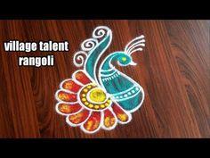 Simple Rangoli Kolam, Simple Rangoli Border Designs, Easy Rangoli Designs Diwali, Indian Rangoli Designs, Rangoli Designs Latest, Latest Rangoli, Rangoli Designs Flower, Rangoli Ideas, Diwali Rangoli