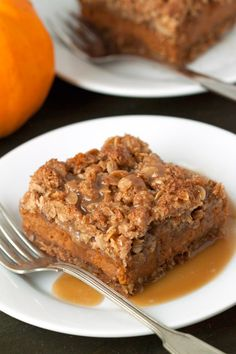 Gluten-Free Pumpkin Pie Streusel Bars | My Baking Addiction