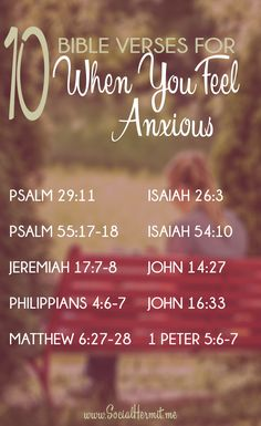 These 10 bible verses for when you feel anxious paint a clear picture of God's unending love for us. Click through to download the FREE phone screensavers to keep these verses close. We see that as long as our trust is in Heavenly Father, He will always be with us and bring us through even the toughest of situations.
