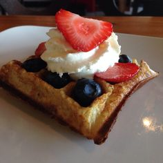 Red white and blues waffles at TIABI Coffee & Waffle! Yummies :)