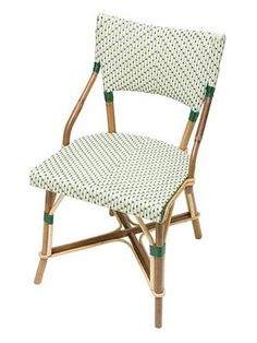French Cafe Chair - love square lines, green color!