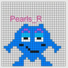 Loom Beading, Beading Patterns, Small Cross Stitch, Saga, Halloween Crafts For Kids, Kids Corner, Baby Knitting Patterns, Perler Beads, Pixel Art