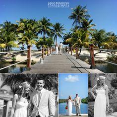 wedding photos at Camana Bay in Grand Cayman