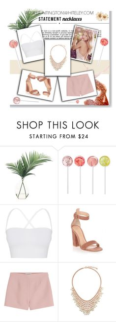 """""""Statement Necklaces"""" by styles-c ❤ liked on Polyvore featuring NDI, Whiteley, Theory, Gianvito Rossi, Valentino, BERRICLE, Carolee, statementnecklaces and summer2016"""