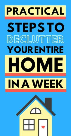 Clutter is the cause of the mess. That's why we need to declutter. Decluttering can take a lot of time if you don't plan it well. And that's why you need to take a look at these genius steps. By following these practical step you will be able to declutter every room at your home in a week. Let's go! #declutter #mess #organization #minimalism #simplicity #home #cleaningtips #quick