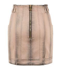 Balmain Button Front Denim Skirt | Harrods