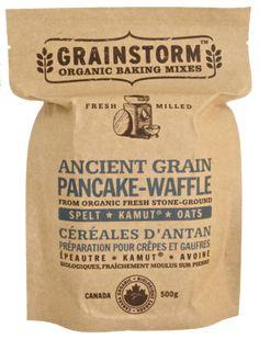 - Food - Baking - Mix - Organic - Brown - Bag - Paper - Ancient Grain Pancake & Waffle Mix