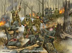 The Battle of Belleau Wood (1–26 June 1918) occurred during the German 1918 Spring Offensive in World War I, near the Marne River in France. The battle was fought between the U.S. Second (under the command of Major General Omar Bundy) and Third divisions along with French and British forces against an assortment of German units including elements from the 237th, 10th, 197th, 87th, and 28th divisions. The battle has become a key component of the lore of the United States Marine Corps.