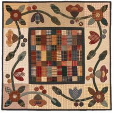 Five-Cent Fairy Garden quilt by Kim Diehl