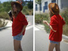Sfera Hat, Mango Jumper, Levis Jeans