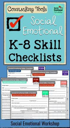 Social Emotional Workshop. Social Emotional Learning Skills Checklists for K-8. Over 120+ pages. Based on AISD, Anchorage, and Illinois State Standards.