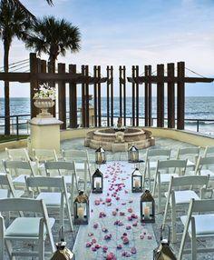 florida wedding venue vero beach hotel spa beautiful outdoors ceremony but ackward reception