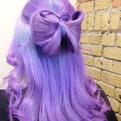Dana came in for a trim and a bow! Why? Cuz Tuesday! #hairbykellyo #hairbow #mermaidians #mermaidhair #layrite #lavenderhair #purplehair #ddfeatures #behindthechair #hotonbeauty #modernsalon #manicpanic #pravana #winnipeg #vintagehair #vivids #vintage #rockabilly #unicornhair #unicorntribe #angelofcolour #stylistshopconnect