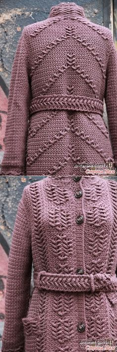 44 Ideas Knitting Scarf Ideas Blankets For 2019 Crochet Jacket, Knitted Coat, Knit Or Crochet, Baby Boy Knitting Patterns, Knit Fashion, Crochet Clothes, Scarf Ideas, Crochet Coat, Knitting Sweaters