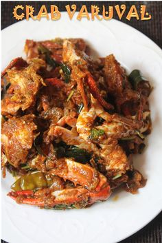 Crab Masala Recipe – Nandu Varuval Recipe I have shared a simple crab curry recipe before and this is my second recipe. It is a thick masala kind of dish and taste just fantas… Indian Prawn Recipes, Goan Recipes, Fried Fish Recipes, Veg Recipes, Curry Recipes, Seafood Recipes, Cooking Recipes, Kerala Recipes, Recipies