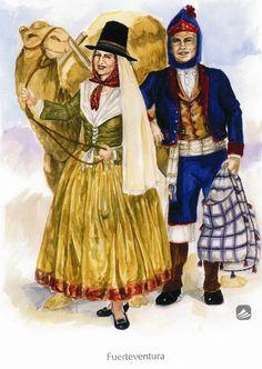 'Fuerteventura'. Trajes de domingo o fiesta. Siglo XIX. , BienMesabe.org