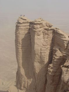 """the edge of the world"", saudi arabia    I have a feeling I would be making this tourist trip alone...  Husband is scared of falling from heights."