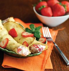 "Double Click Slowly on Pic for Recipe....Low Carb Strawberries and Mascarpone Cream Crêpes... by George Stella ...visit us at ""Low Carbing Among Friends"" on Facebook"