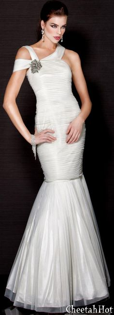 205c42adc4b JOVANI - Strappy Mermaid Gown - Ivory