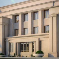 #villa #Exterior #rdeqatar Neoclassical Architecture, Hotel Architecture, Classic Architecture, Concept Architecture, Villa Design, Facade Design, Exterior Design, House Front Design, Terraria
