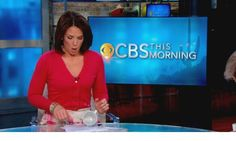 An unexpected spill for just minutes to air! She remained cool (as usual). Studio 57, Cbs News, Blazer, Cool Stuff, Women, Blazers