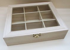 Unfinished Light Wood Shadow Cabinet for by dieWunderkammerUK