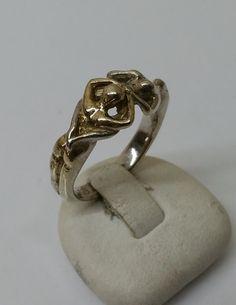Vintage Ringe - Aktring Ring Silber 925 teilvergoldet selten SR689 - ein Designerstück von Atelier-Regina bei DaWanda