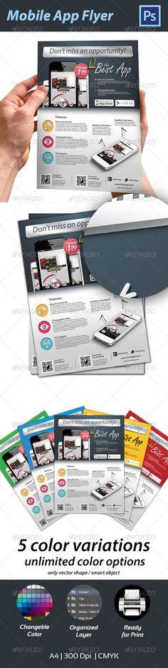 #Mobile #App #Flyer - Commerce Flyers Download here: https://graphicriver.net/item/mobile-app-flyer/4459153?ref=alena994