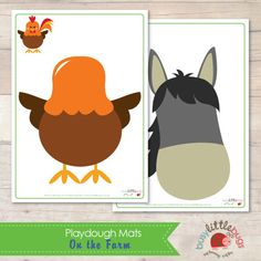On the Farm Playdough Learning Mats by BUSYLITTLEBUGSshop on Etsy