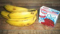gelatina y banana