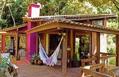 Os chalés são casas muito simples e acolhedoras, que foram inspiradas nas casas dos pastores nas montanhas suíças.
