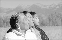 Shoshone women Camille George, left, her daughter Rose Ann Abrahamson, center, and granddaughter Leela Abrahamson can trace their ancestry directly to Chief Cameahwait, brother of Sacajawea.