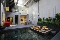 lago na sala, ambiente original