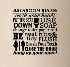 Bathroom Cleanliness Rules Bathroom Rules Vintage Design Funny