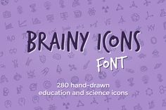 Brainy Icons Font by Hand-drawn Goods on Creative Market