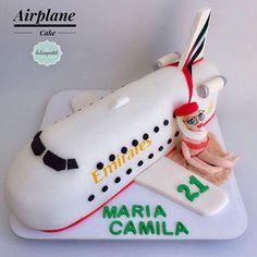 Torta Avión Azafata Medellín by Giovanna Carrillo