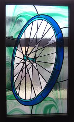 Bicycle wheel by Dalton Stained Glass