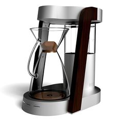 Beautiful! Made entirely of aluminum, glass, & walnut — Clive Coffee premieres the Ratio Coffee Machine   Designed & Built in Portland, Oregon   Clivecoffee.com