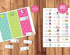 ► Visually organize the routine of your child  ► This listing is for a high quality files of the following items:  * C H A R T Morning, Afternoon Kids School Organization, Chore Cards, Routine Printable, Mat Paper, Routine Chart, Behaviour Chart, Blank Cards, Happy Day, Girl Pictures
