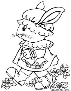 Easter color page, holiday coloring pages, color plate, coloring sheet,printable color picture