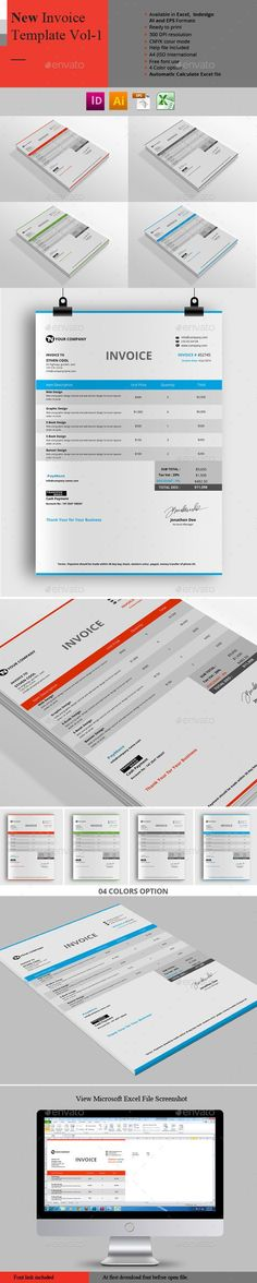 Company Invoice Template Excel Invoice Template Pinterest - new invoice