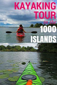 Kayaking in the 1000 Islands, Ontario Canada