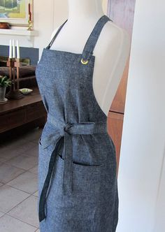 my new work apron that i LOVE from etsy: attitudes and aprons shop.