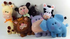 Lindos chaveiros tema Safari para lembrancinha de maternidade ou chá de bebê.