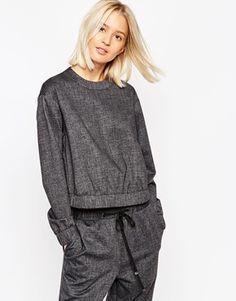 ASOS WHITE Tailored Sweatshirt