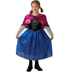 New Frozen Anna Elsa Costume & Wig Girls Disney Princess Kids Fancy Dress Outfit | eBay
